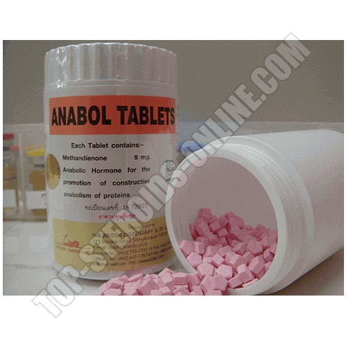 Dianabol Ροζ 5MG British Dispensary 1000 Χάπια