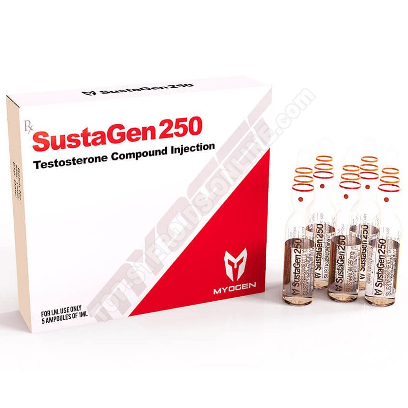 SustaGen 250 (Sustanon) - 250 mg / ml - 5 ampoules of 1ml - MyoGen