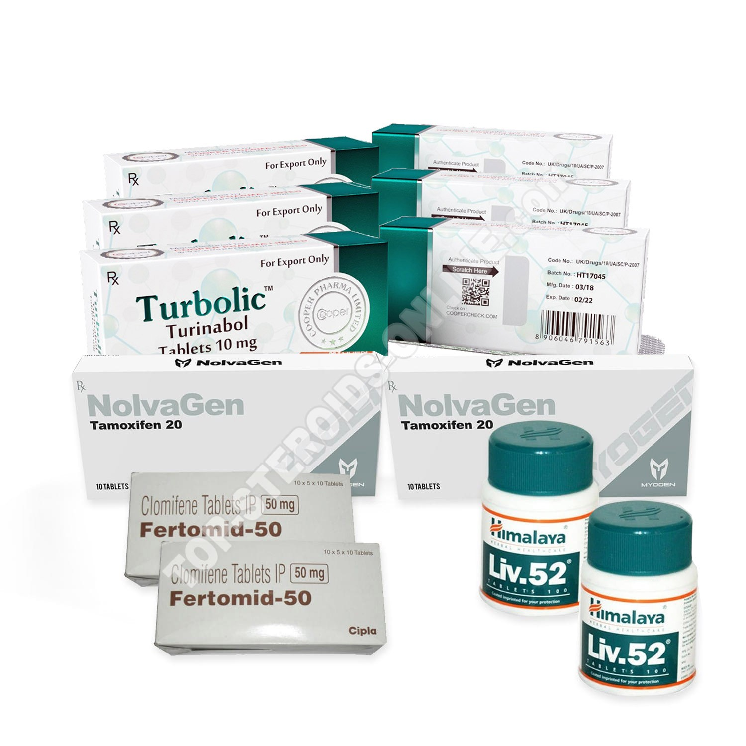 LEAN MUSCLE LEVEL II PACK (ORAL) COOPER - TURBOLIC + PROTECTION + PCT (8 WEEKS)