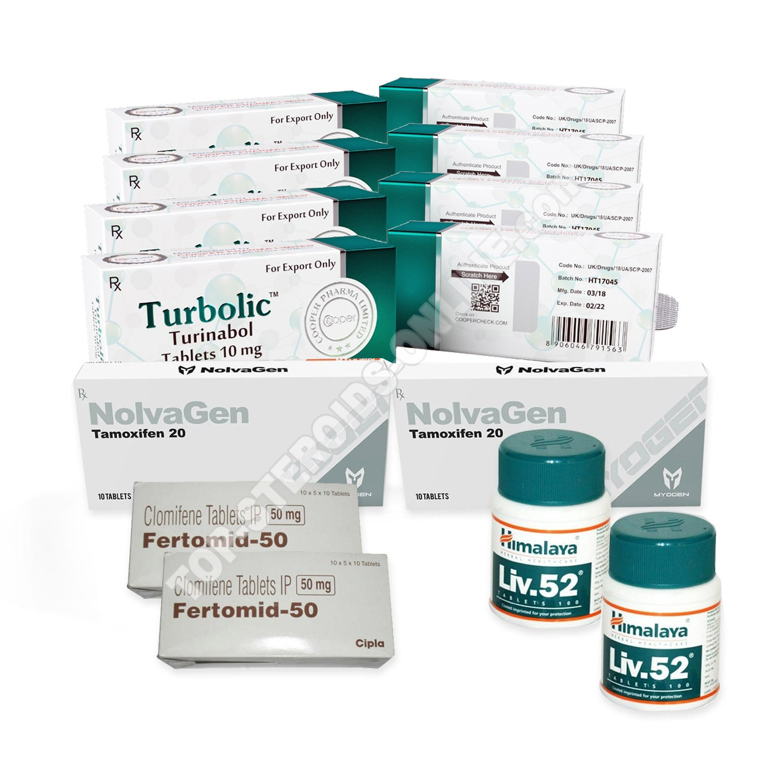 LEAN MUSCLE LEVEL III PACK (ORAL) COOPER - TURBOLIC + PROTECTION + PCT (8 WEEKS)