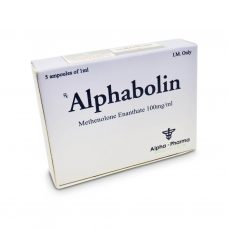 Alphabolin Methelone Enanthate 100mg/ml 5 x 1 amp - Alpha-Pharma