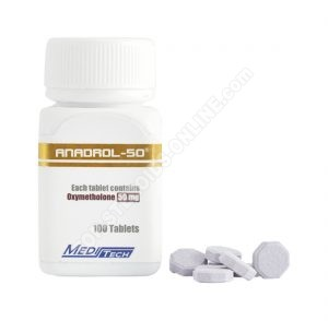 ANADROL-50 Oxymetholone 50mg / tab 100tab - Meditech