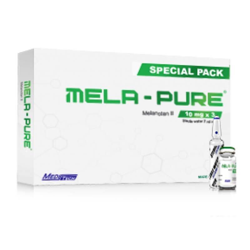 MELA-PURE Spezialpackung Melanotan II 10mg / Fläschchen 3vials / Packung - Meditech