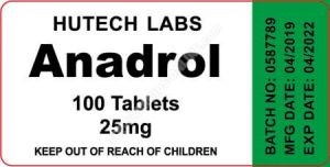 Anadrol 25mg - 100 tabs - Hutech Labs
